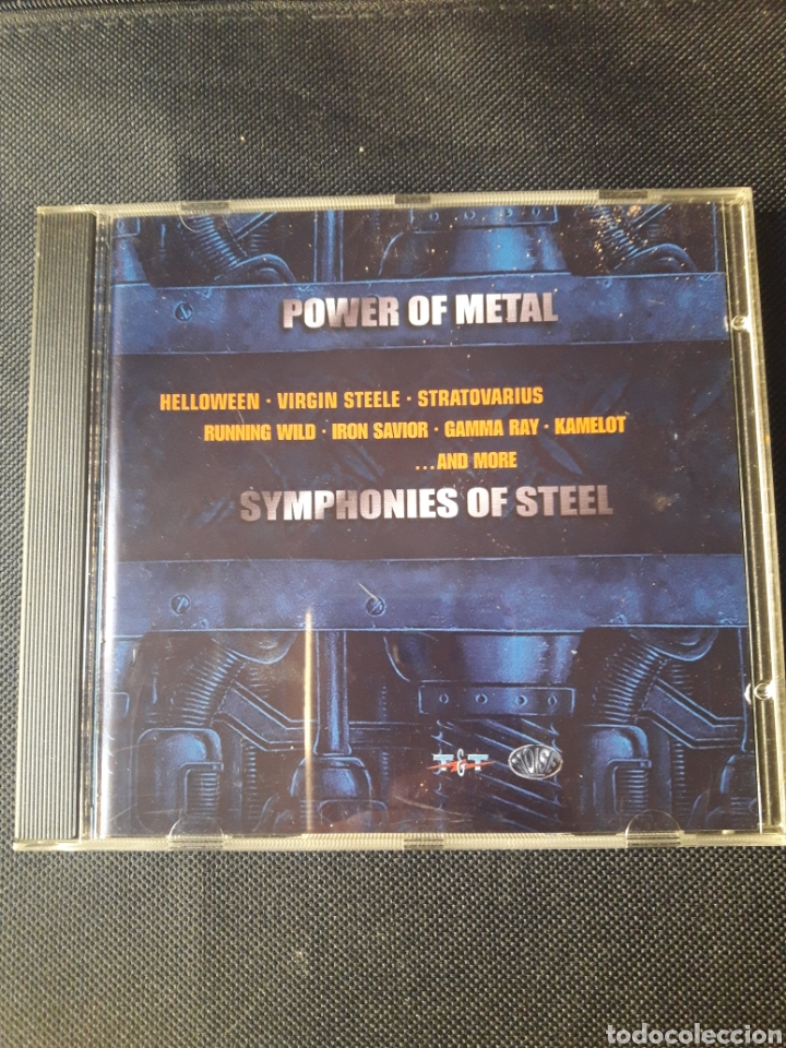 POWER OF METAL - SYMPHONIES OF STEEL CD GAMMA RAY STRATOVARIUS VIRGIN STEELE HELLOWEEN IRON SAVIOR (Música - CD's Heavy Metal)