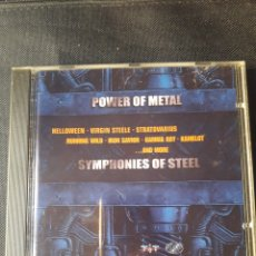 CDs de Música: POWER OF METAL - SYMPHONIES OF STEEL CD GAMMA RAY STRATOVARIUS VIRGIN STEELE HELLOWEEN IRON SAVIOR. Lote 138641788