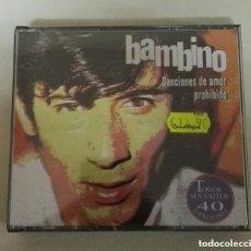 CDs de Música: BAMBINO DOBLE CD 40 CANCIONES DE AMOR PROHIBIDO 40 TEMAS. Lote 138833574