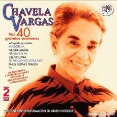 CDs de Música: CHAVELA VARGAS 2CD SUS 40 GRANDES CANCIONES. Lote 138834170