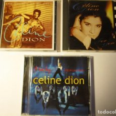 CDs de Música: LOTE 3 CD CELINE DION THE COLOUR OF MY LOVE ANEM DAY LIVE IN LAS VEGAS FOR YOU. Lote 138931858