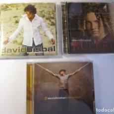 CDs de Música: LOTE 3 CD DAVID BISBAL BULERIA PREMONICION CORAZON LATINO. Lote 138935726