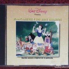 CDs de Música: B.S.O. BLANCANIEVES Y LOS SIETE ENANITOS - WALT DISNEY (BANDA SONORA EN ESPAÑOL) CD 1991. Lote 138975118