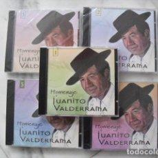 CDs de Música: HOMENAJE A JUANITO VALDERRAMA. 5 CD'S.. Lote 138995950