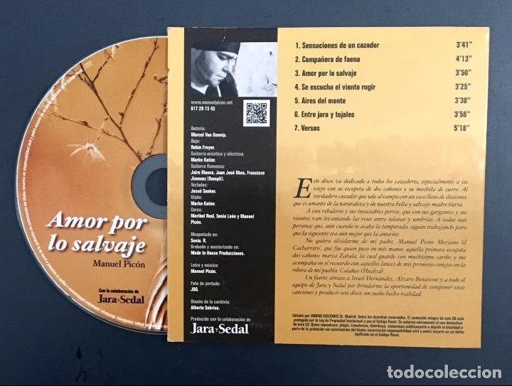 CDs de Música: Amor por lo salvaje - Manuel Picón - Jara y Sedal - Foto 2 - 139016822