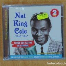 CDs de Música: NAT KING COLE - TODOS SUS EXITOS EN ESPAÑOL - 2 CD. Lote 139045270