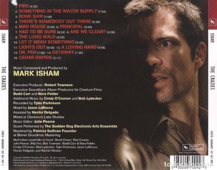 CDs de Música: THE CRAZIES / Mark Isham CD BSO - Foto 2 - 51192007