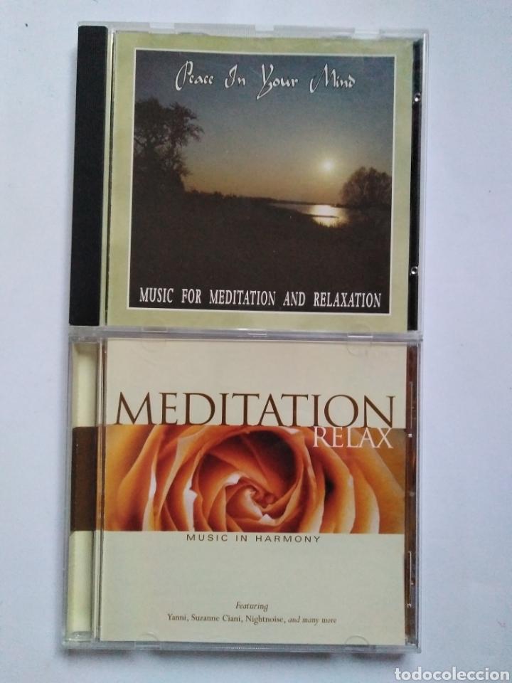 LOTE. 2 CDS MEDITACIÓN. MEDITATION 2 CDS. (Música - CD's Otros Estilos)