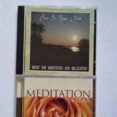 CDs de Música: LOTE. 2 CDS MEDITACIÓN. MEDITATION 2 CDS.. Lote 139144789
