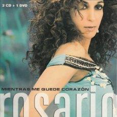 CDs de Música: ROSARIO - MIENTRAS ME QUEDE CORAZÓN - GRANDES ÉXITOS, GRANDES VERSIONES - 2XCD + DVD. Lote 139154042
