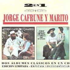 CDs de Música: JORGE CAFRUNE, MARITO-VIRGEN INDIA/DE MI MADRE CD 1995. Lote 236152715