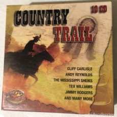 CDs de Música: COUNTRY TRAIL 10 CD. Lote 139243010