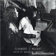 CDs de Música: SCHUBERT, MOZART - OBRAS PARA PIANO (CD) KATIA Y MARIELLE LABÈQUE. Lote 139292246