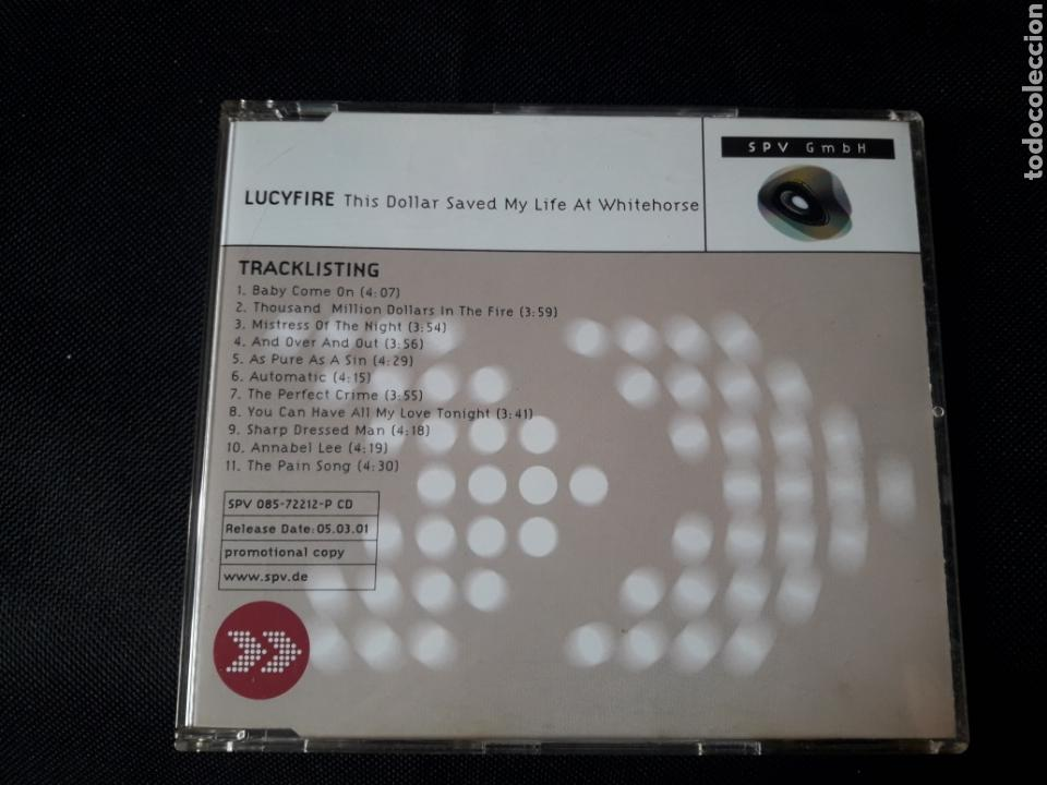 CDs de Música: Lucyfire - CD promocional This Dollar Saved My Life At Whitehorse (goth rock) - Foto 1 - 139497302