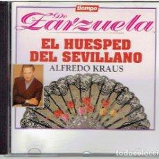 CDs de Música: CD TIEMPO DE ZARZUELA, EL HUÉSPED DEL SEVILLANO. Lote 139499430