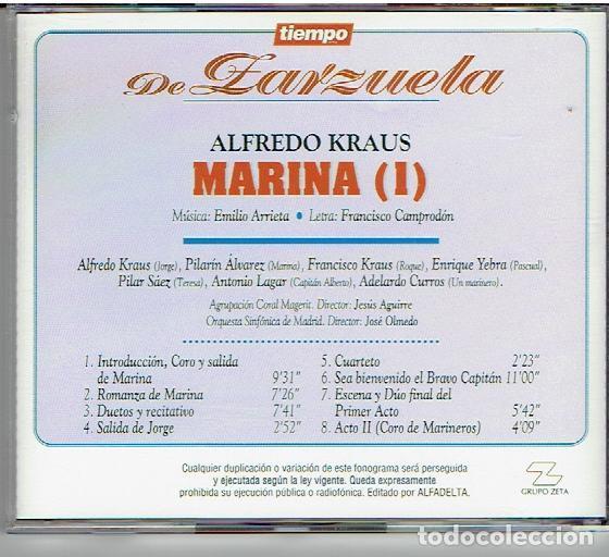 CDs de Música: CD`S TIEMPO DE ZARZUELA, MARINA - Foto 2 - 139504878