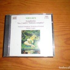 CDs de Música: CARL NIELSEN. SYMPHONIES Nº 1 Y 6. SINFONIA SEMPLICE. NAXOS, 1995.. CD. IMPECABLE (#). Lote 139515462
