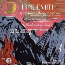 CDs de Música: PAUL HINDEMITH - SYMPHONIC METAMORPHOSIS Y OTRAS OBRAS (CD) BBC SCOTTISH SYMPHONY ORCHESTRA. Lote 139560050