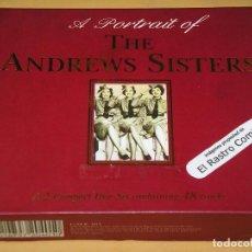 CDs de Música: THE ANDREWS SISTERS, A PORTRAIT OF, BOX CON DOS CD ERCOM. Lote 139575342