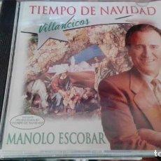 CDs de Música: MANOLO ESCOBAR - VILLANCICOS TIEMPO DE NAVIDAD. Lote 139613126