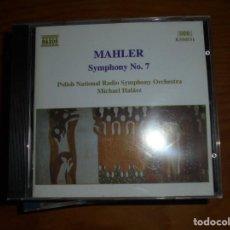 CDs de Música: GUSTAV MAHLER. SYMPHONY Nº 7. NAXOS, 1995. CD. IMPECABLE (#). Lote 139642802