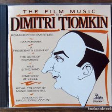 CDs de Música: BSO - THE FILM MUSIC OF DIMITRI TIOMKIN - DAVID WILLCOCKS, DIRECTOR - 1985. Lote 139710982