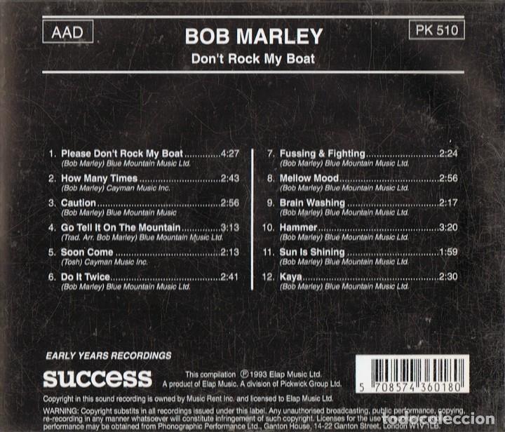CDs de Música: BOB MARLEY ¨DON´T ROCK MY BOAT¨ - Foto 2 - 139715162