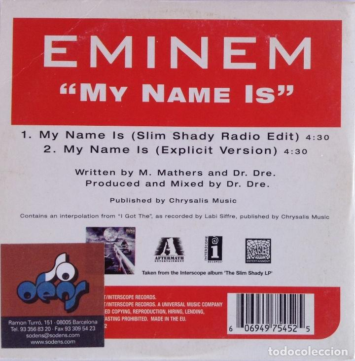 CDs de Música: EMINEN HI! My name is Slim Shandy explícita versión radio Edit CD Promotional - Foto 2 - 139837286