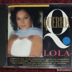 CDs de Música: LOLA FLORES (QUERIDA LOLA) CD 1993 - JULIO IGLESIAS, ROCIO JURADO, LOLITA, EL PUMA, CELIA CRUZ. Lote 139857362