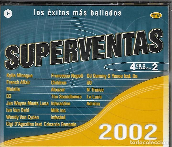 SUPERVENTAS 2002. 4 CD'S (Música - CD's Otros Estilos)