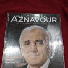 CDs de Música: CHARLES AZNAVOUR ~ CD + LIBRO ~ SHE , EN FRANCES ( NUEVO ). Lote 140035678