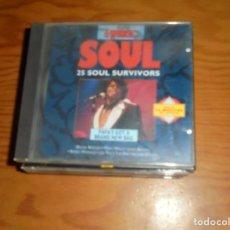 CDs de Música: THE WORLD OF SOUL. PAPA´S GOT A BRAND NEW BAG 25 SOUL SURVIVORS. TRACE, 1992. CD. IMPECABLE (#). Lote 140092710