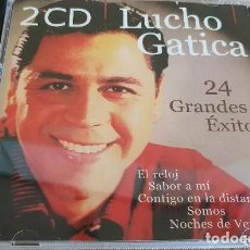 CDs de Música: LUCHO GATICA / 24 GRANDES ÉXITOS / DOBLE CD DISKY / 24 TEMAS / LUJO.. Lote 140126802