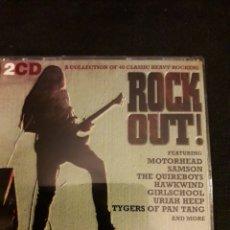 CDs de Música: ROCK OUT! CD DOBLE (MOTORHEAD, SAMSOM, QUIREBOYS, HAWKWIND, GIRSLCHOOL, URIAH HEEP, ETC). Lote 140153028