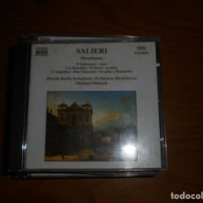 CDs de Música: ANTONIO SALIERI. OVERTURES :TALISMANO, AXUR, IL MORO, DON CHISCIOTE. NAXOS, 2000 . CD. IMPECABLE (#). Lote 140364234