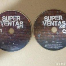 CDs de Música: 2 CD MUSICA RECOPILATORIO SUPER VENTAS 2013 SUPERVENTAS 50 TEMAZOS IDEAL FIESTAS MUY ESCASO ORIGINAL. Lote 140463046