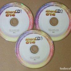 CDs de Música: 3 CDS MUSICA RECOPILATORIO AHORA 014 EXITOS AÑO 2014 56 TEMAS IDEAL PARA FIESTAS ORIGINAL . Lote 140465006