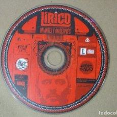 CDs de Música: CD MUSICA RAP LIRICO UN ANTES Y UN DESPUES 15 TEMAS MUY ESCASO RARO ORIGINAL. Lote 140468390