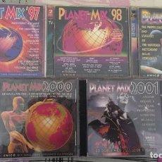 CDs de Música: COLECCIÓN PLANET MIX (VOLÚMENES 1997 AL 2001). Lote 140489990