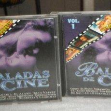 CDs de Música: DOS CDS BALADAS DE CINE VOLUMEN 1 Y 2. Lote 140507246