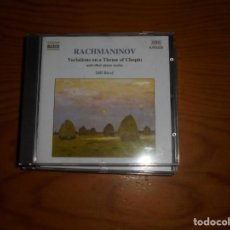 CDs de Música: SERGEY RACHMANINOV. VARIATIONS ON A THEME OF CHOPIN. IDIL BIRET. NAXOS, 1999. CD. IMPECABLE (#). Lote 140508794