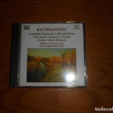 CDs de Música: SERGEY RACHMANINOV. COMPLETE WORKS FOR CELLO AND PIANO. NAXOS, 1999 . CD. IMPECABLE (#). Lote 140512298