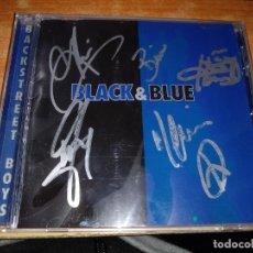 CDs de Música: BACKSTREET BOYS BLACK & BLUE CD ALBUM FIRMADO POR LOS CINCO COMPONENTES 2000 EU 8 TEMAS MUY RARO. Lote 140526498