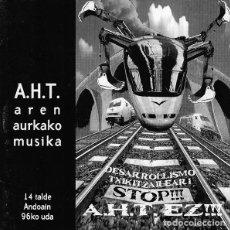 CDs de Música: VARIOUS - A.H.T. AREN AURKAKO MUSIKA. Lote 140526790
