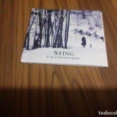 CDs de Música: STING. IF ON WINTER´S NIGHT. CD DIGIPACK EN BUEN ESTADO CON 15 TEMAS. RARO. Lote 140526950