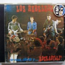 CDs de Música: LOS REBELDES. CERVEZA, CHICAS Y... ROCKABILLY. CD EMI 7956532. ESPAÑA 1990.. Lote 140609574