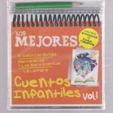 CDs de Música: LOS MEJORES CUENTOS INFANTILES VOL.1 (CD INFANTIL + LÁPÌZ DE COLOR + 8 PÁGS. PASATIEMPOS) PRECINTADO. Lote 140743158