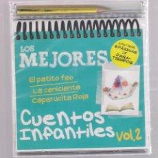 CDs de Música: LOS MEJORES CUENTOS INFANTILES VOL.2 (CD INFANTIL + LÁPÌZ DE COLOR + 8 PÁGS. PASATIEMPOS) PRECINTADO. Lote 140743382