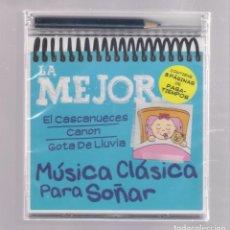 CDs de Música: LA MEJOR MÚSICA CLÁSICA PARA SOÑAR (CD INFANTIL + LÁPÌZ DE COLOR + 8 PÁGS. PASATIEMPOS) PRECINTADO. Lote 140743602