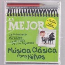 CDs de Música: LA MEJOR MÚSICA CLÁSICA PARA NIÑOS (CD INFANTIL + LÁPÌZ DE COLOR + 8 PÁGS. PASATIEMPOS) PRECINTADO. Lote 140744006